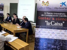 Presentación na USC do IV Premio Contar a Ciencia, organizado por GCiencia.