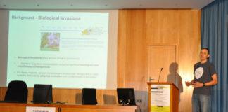 Intervención do profesor José M. Sánchez do grupo de Ecología e Evolución das Plantas. Foto: Duvi