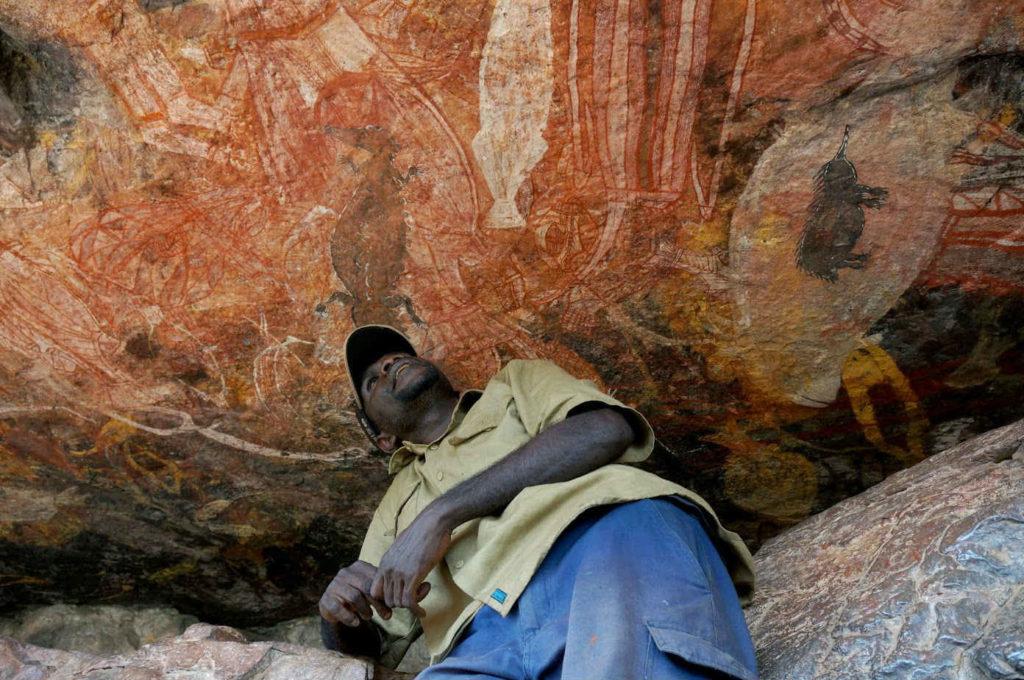 Pinturas aborixes en Australia.