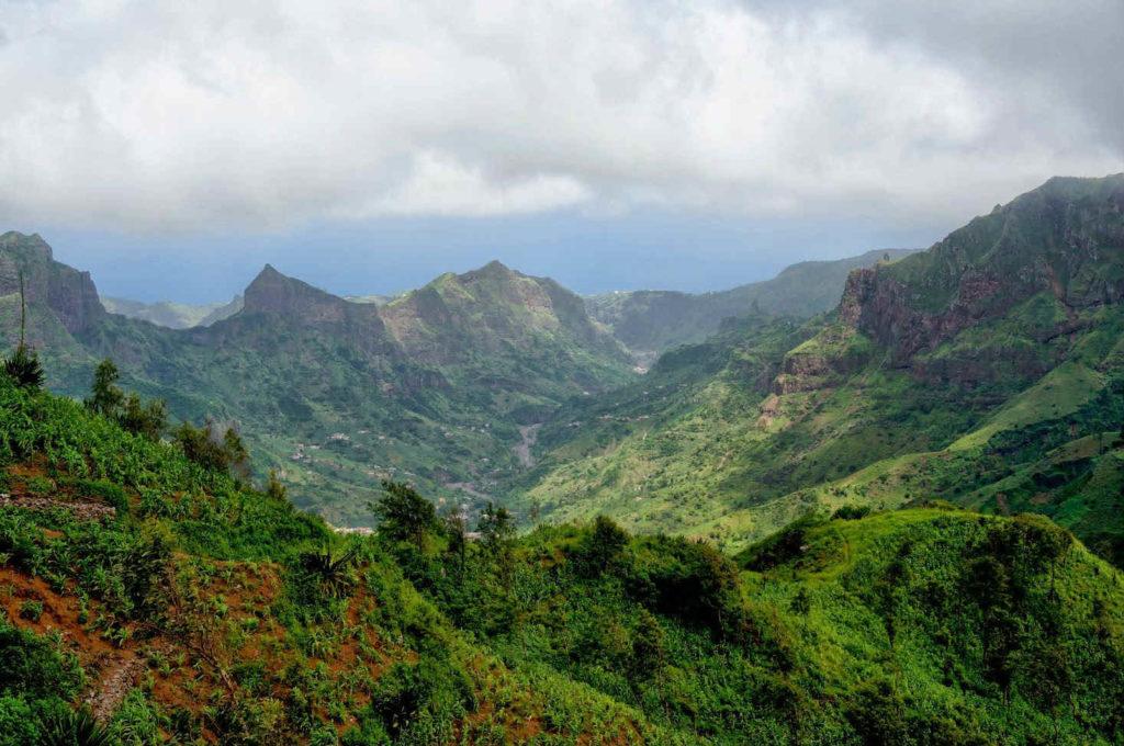Montañas en Cabo Verde.