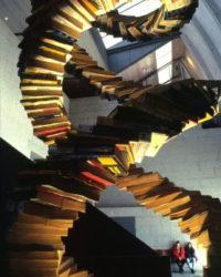 Mostra do ADN con guías telefónicas Foto: mc2 Coruña