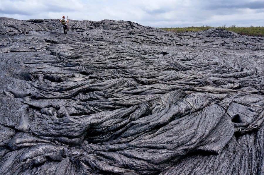 Lava do volcán Kilauea (Hawai).