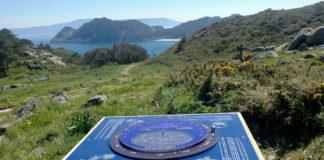Planisferio nas illas Cíes.. Foto: Parque Nacional Illas Atlánticas (Facebook).