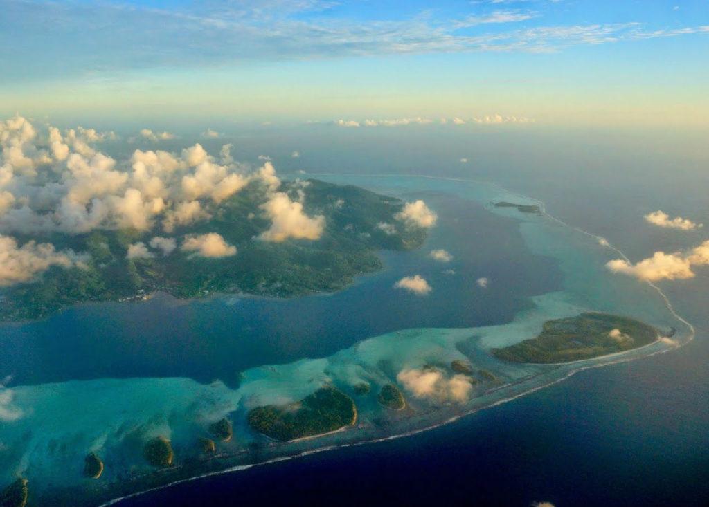 Atolón da Polinesia francesa.