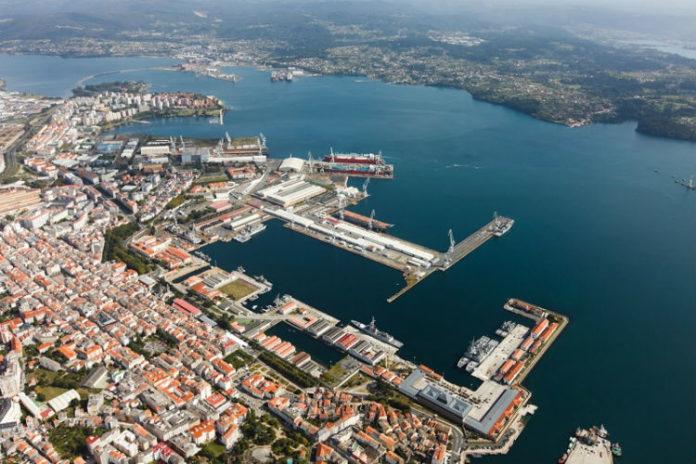 As instalacións de Navantia en Ferrol.