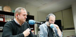Javier Pedreira e Manuel Vicente, no programa Efervesciencia.