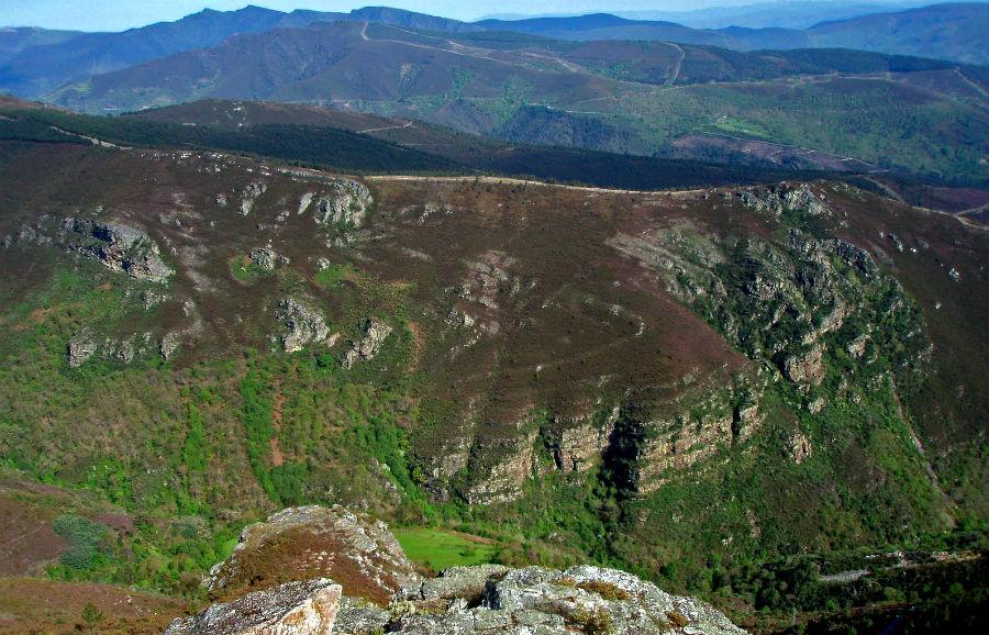 Vista do pregamento de Campodola-Leixazós. Foto: Ramón Vila Anca.