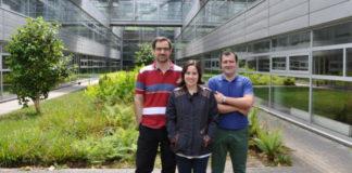 Os creadores do artigo Carlos Silva, Olla Nieto e Roberto Vilar. Foto: Duvi