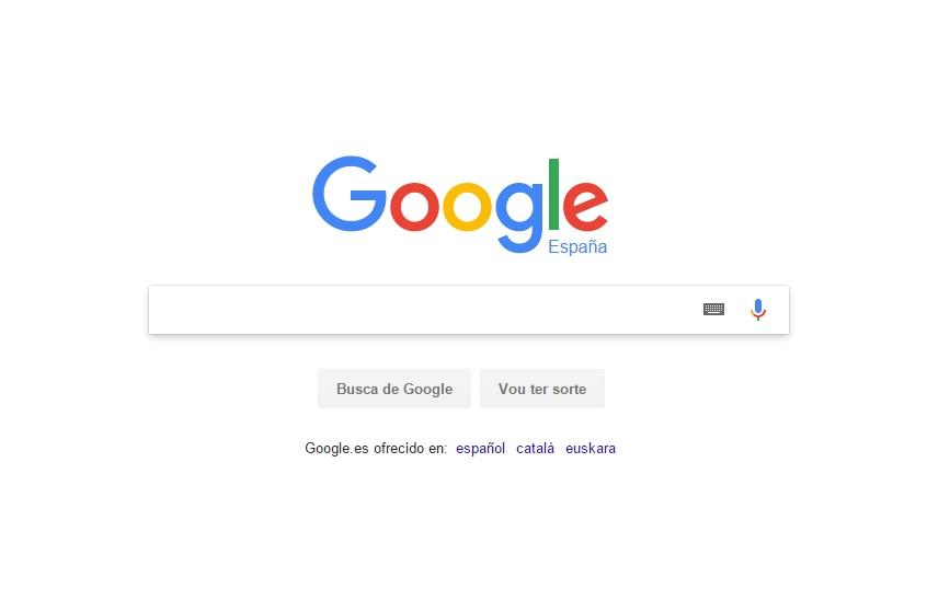 Google ofrece o seu portal de busca en galego, mais con limitacións nos resultados.