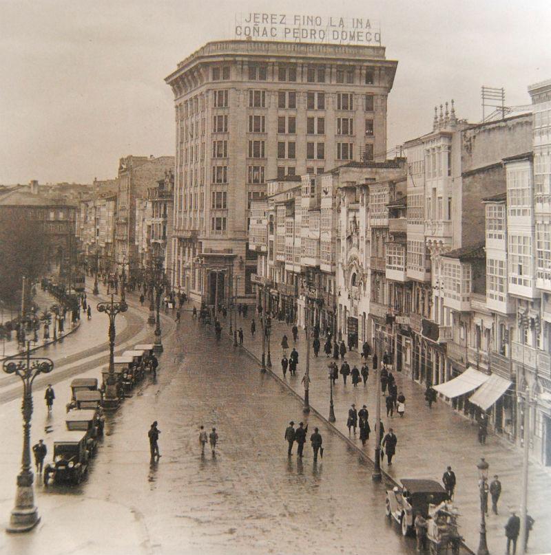 Cantón da Coruña desde o Hotel Palace.