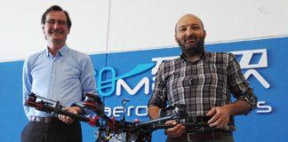 Carlos de la Rocha e Aquilino Abeal, fundadores de Aeromedia.