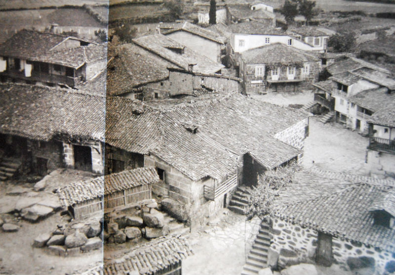 Vista de Vilanova dos Infantes desde o outeiro do castelo.