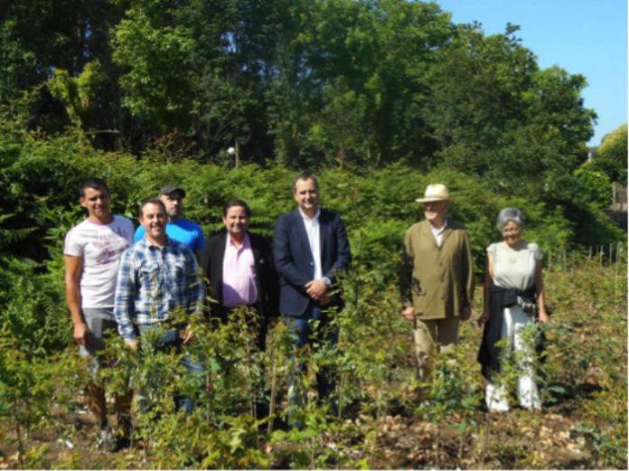 Expertos do Centro de Investigación Forestal de Lourizán e da Fundación Juana de Vega. Foto: Consellería do Medio Rural.