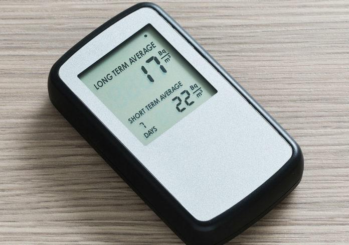 Medidor de radon. Fonte: Wikicommons.