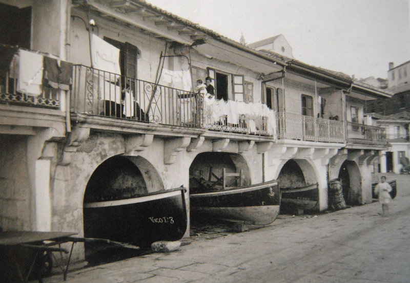 Casas de mariñeiros en Vigo.