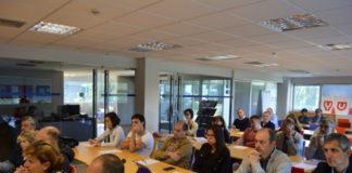 Participantes nas xornadas sobre oportunidades de dixitalización para o sector agroalimentario celebradas no Campus Terra. Foto: USC