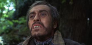 """José Luis López Vázquez interpretou a Benito Freire, personaxe inspirada en Romasanta, no filme de Pedro Olea """"El bosque del lobo"""" (1970)."""