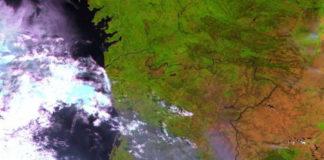 Imaxe tomada polo satélite Proba Vegetation, da Axencia Espacial Europea, o pasado domingo. Foto: ESA/Proba V.