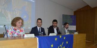 De esquerda a dereita, López, Barreiro, Piñeiro e Latas, na Casa do Saber. Foto: USC