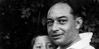 O artista Camilo Díaz Baliño, asasinado en 1936, xunto ao seu fillo, Isaac Díaz Pardo.
