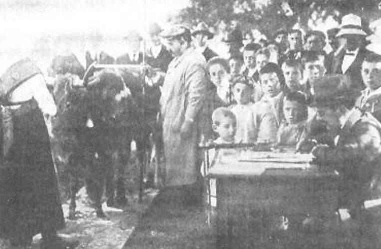 Concurso celebrado en Cuntis no ano 1935. Cedida por Diego Conde.