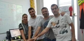 Os investigadores Alexandra Fernández, Alexis Padrón, Roberto Barcala e Martín Otero. Foto: Duvi.