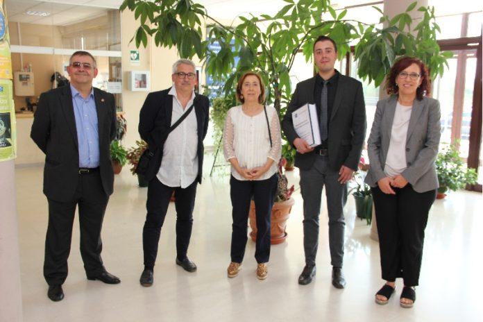 De esquerda a dereita, Baliñas Pérez, Pérez Losada, Ríos Rodríguez, Núñez Nemeses e Domenech Belda