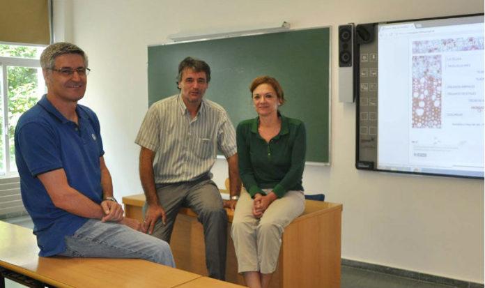 Manuel Megías, Manuel Ángel Pombal e Pilar Molist, responsables do Atlas. Foto: Duvi.