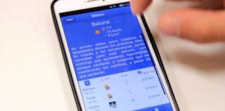 Imaxe da aplicación galega Galiweather, que crea textos automáticos sobre as previsións meteorolóxicas. Imaxe: CiTIUS.
