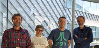 Burghard Baltrusch, Beatriz Legerén, Enrique Costa e Antonio Pena, profesores da UVigo involucrados no proxecto. Foto: Duvi.