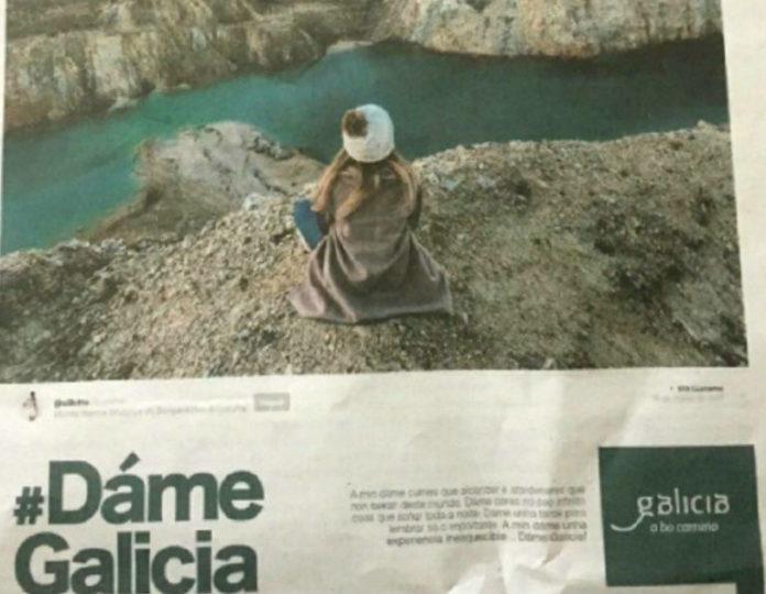 Anuncio publicado por Turismo de Galicia en varios xornais.