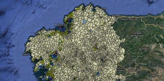 Unha das causas ás que se alude en moitos dos sucesos é o abandono e o despoboamento da zona rural, que se evidencia no mapa que amosa o grao de urbanización de Galicia. Fonte: IGE.