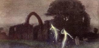 Cadro do pintor alemán Hermann Hendrich que representa uns supostos fogos fatuos.