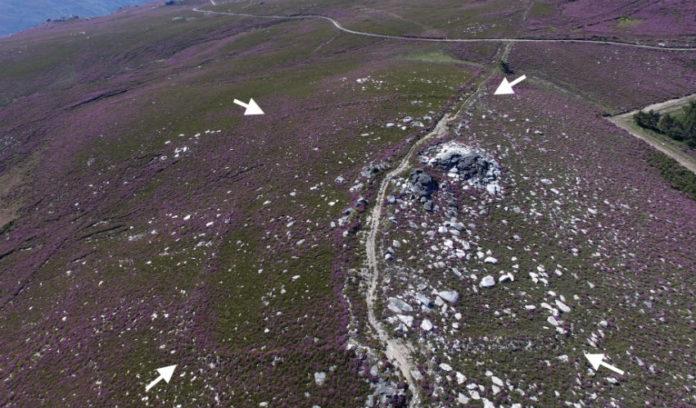 O recinto de Penedo dos Lobos. Fotografía aérea. Fonte: romanarmy.eu.