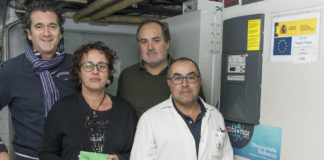 Investigadores do IIM, xunto ao biobanco. Foto: IIM/CSIC.