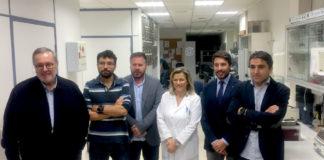 Presentación de Lincbiotech. De esquerda a dereita: José Castillo, Ramón Iglesias, Tomás Sobrino, Eloína Núñez, Carlos Sande e Francisco Campos. Foto: IDIS.