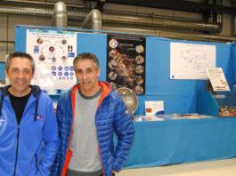 Juan Carlos (esquerda) e Francisco Javier, no taller que coordina Juan Carlos no CERN. Foto: R. Pan.