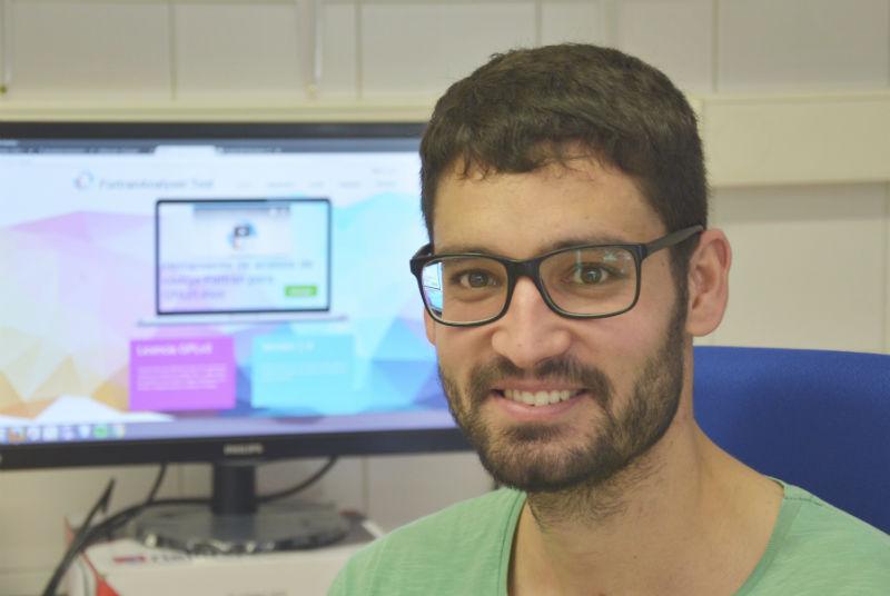 Michael García, estudante da UVigo e creador de FortranAnalyser. Foto: Duvi.