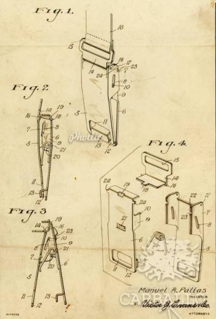 Páxina da patente na que se amosa o esquema de funcionamento do invento. Fonte: Phottic / Carballo na memoria.