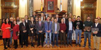 Autoridades e premiados nos Prismas. Foto: Concello da Coruña.