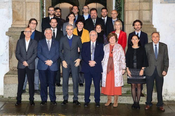 Foto de familia do acto de entrega dos Premios á Transferencia de Tecnoloxía de Galicia 2017.
