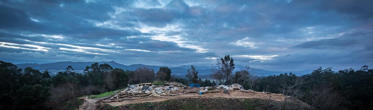 Escavación no Monte do Castro, en Ribadumia.