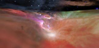 Créditos da visualización: NASA, ESA, F. Summers, G. Bacon, Z. Levay, J. DePasquale, L. Frattare, M. Robberto, M. Gennaro (STScI) e R. Hurt (Caltech/IPAC)
