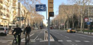 Un dos carrís bici de Barcelona, unha das cidades estudadas. Foto: IS Global.