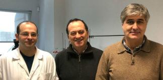Saúl de la Peña, Augusto Pérez Alberti e Xosé Luis Prieto. Foto: USC.