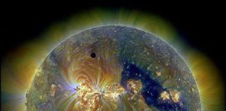 Créditos da imaxe: NASA/SDO mailos equipos AIA, EVE e HMI ; Composición dixital: Peter L. Dove