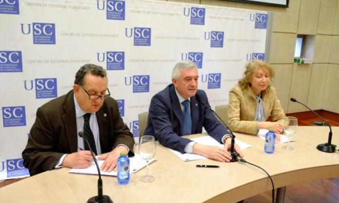 De esquerda a dereita, José Manuel Silva, Juan Viaño e Mabel Loza. Foto: Servimav-USC.
