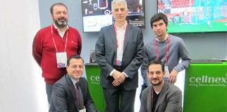 Investigadores grupo GTI de atlanTTic, da UVigo, que participan no Mobile World Congress. Imaxe: Duvi.