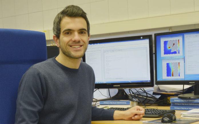Diego Fernández, físico e autor da tese sobre as plumas fluviais da península Ibérica. Foto: Duvi.