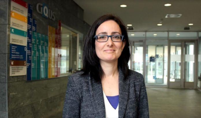 María Giménez, a nova investigadora Starting Grant que se incorpora ao CiQUS. Foto: Andrés Ruiz.